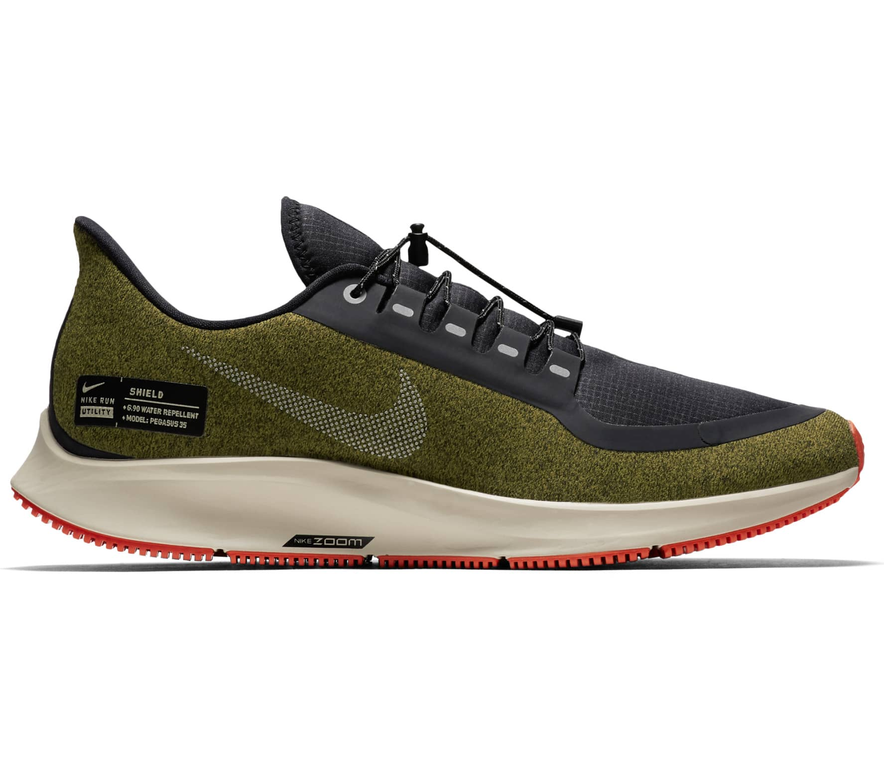 sports shoes e92c9 c844f Nike - Air Zoom Pegasus 35 Shield Heren ren schoen (groen)