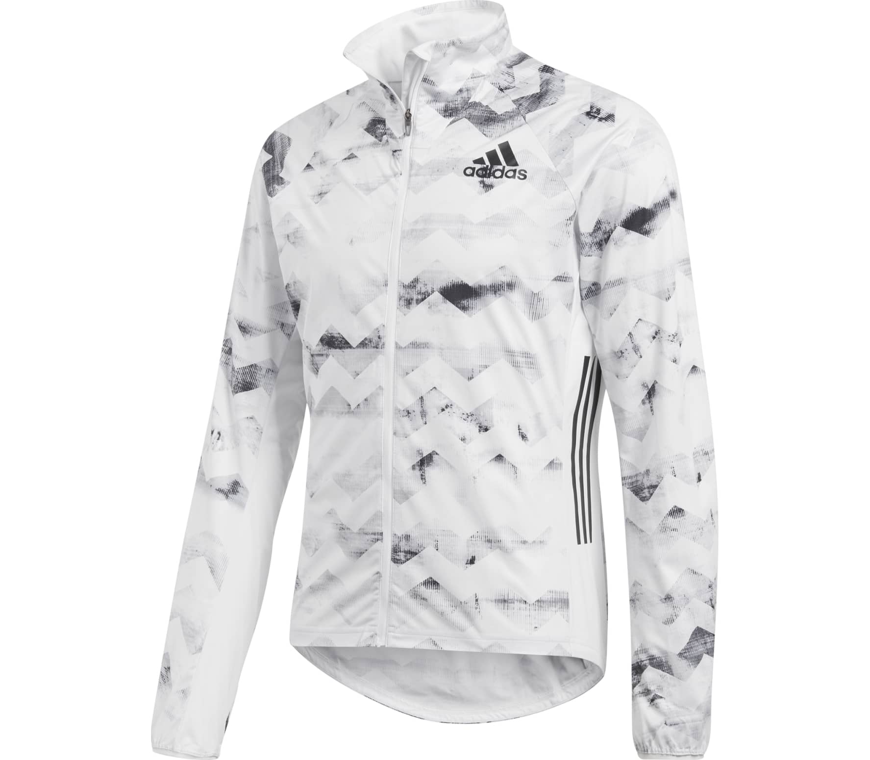 Adidas - Adizero Track men's running jacket (white/grey) - S thumbnail