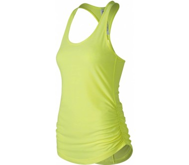 New Balance - Perfect Mujer correr parte superior (amarillo)