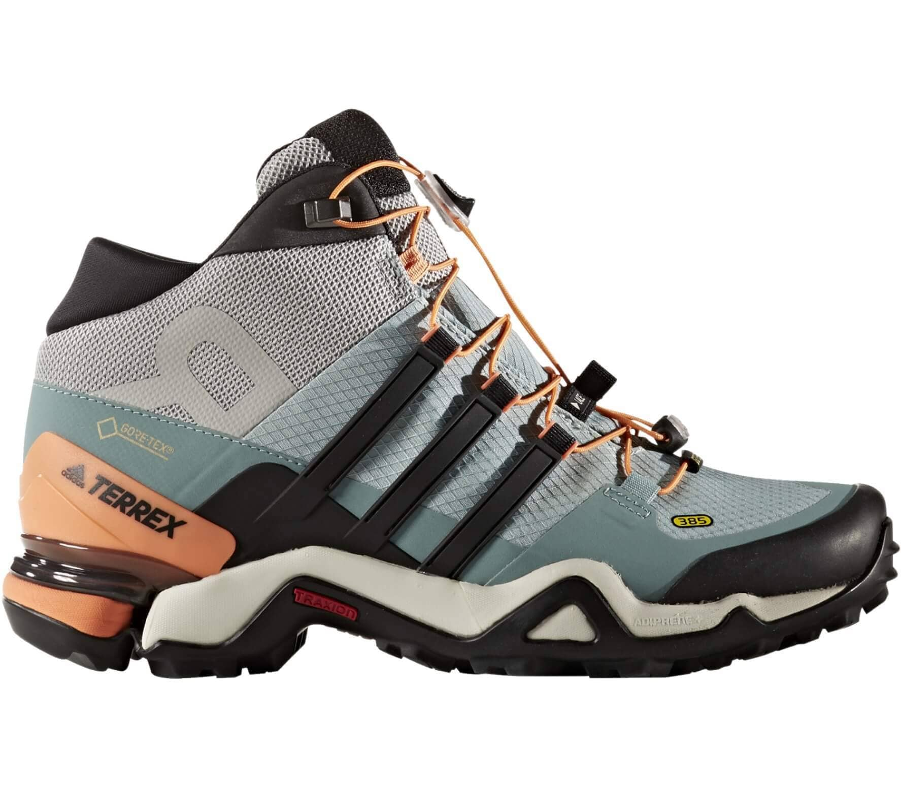 new arrival 000cf 67e6c Adidas - Terrex Fast R Mid GTX women s hiking shoes (light green black)