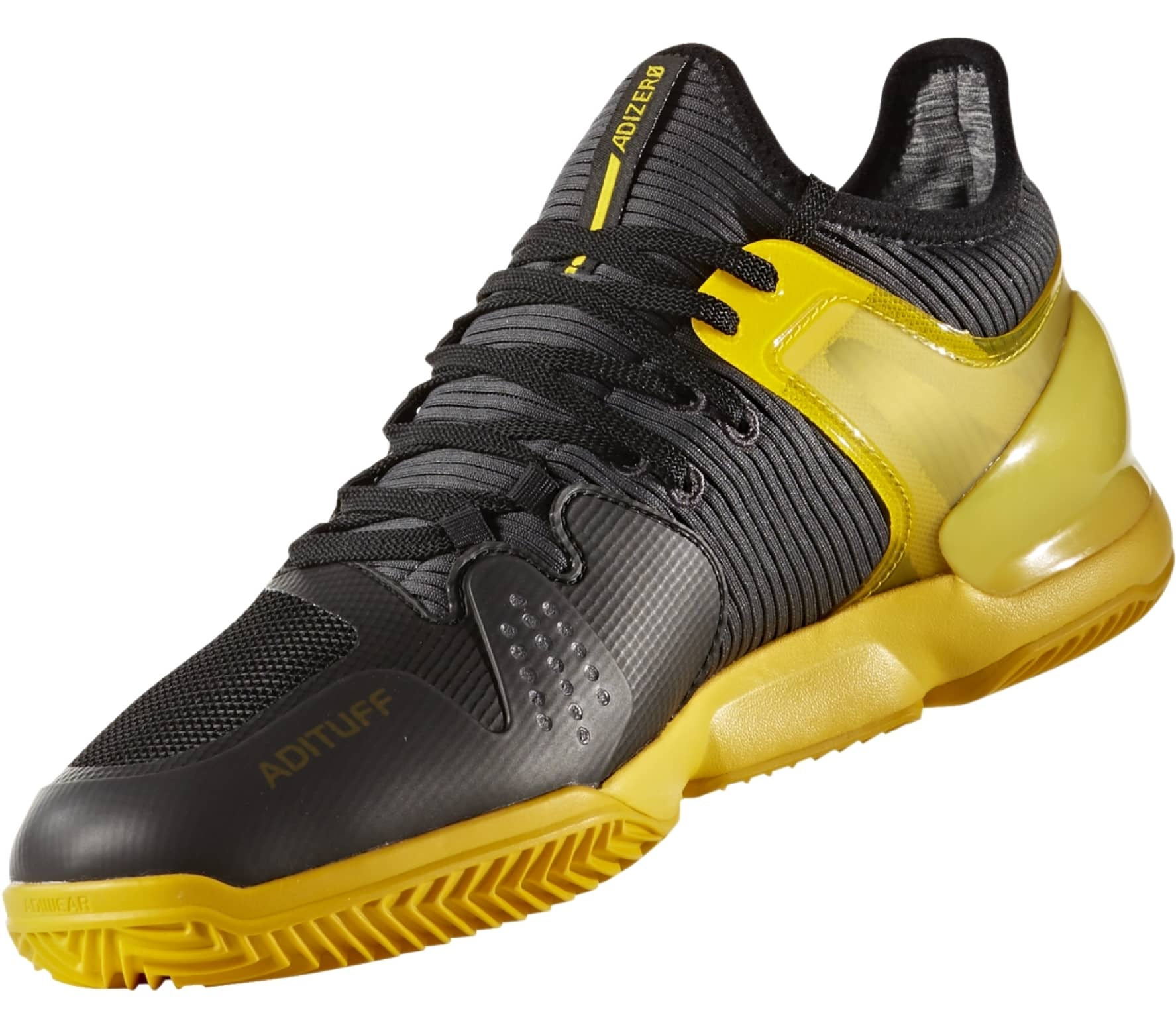 sports shoes 00233 8f4f7 Adidas - Adizero Ubersonic 2 Clay scarpe tennis da uomo (nerogiallo)
