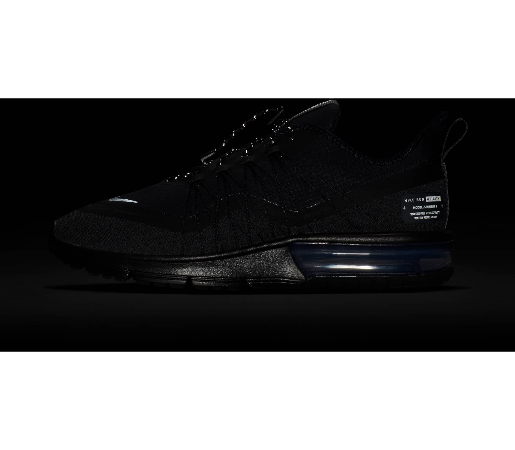 best service befe1 8f793 Nike - Air Max Sequent 4 Shield women s running shoes (black)