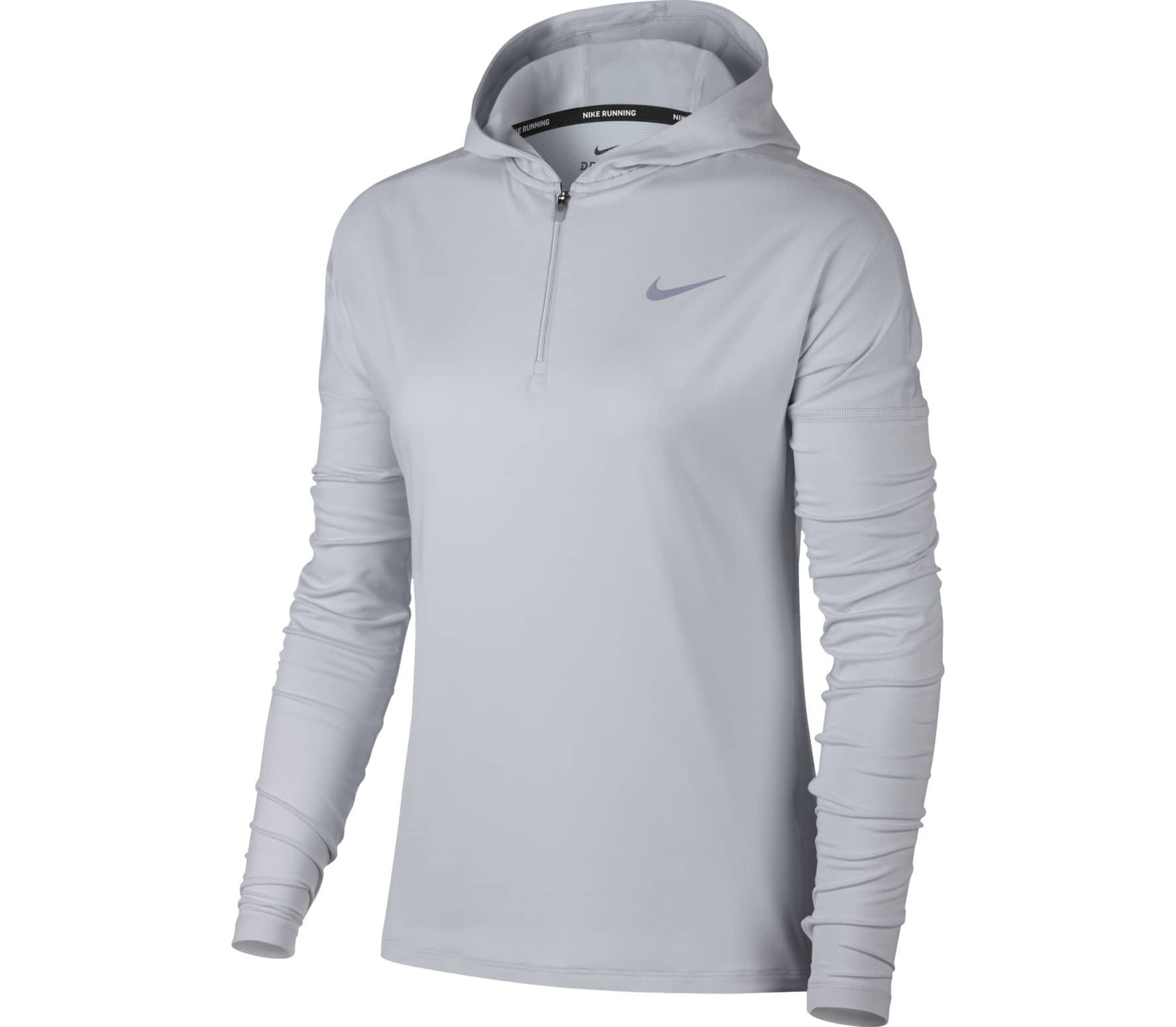 Con Mujer Sudadera Para Element Capucha Dry gris Nike Running De Ptwfq8n