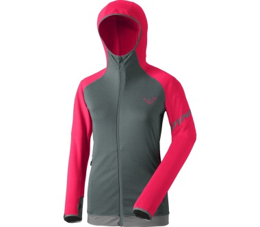 Dynafit - Transalper Therm women's fleece hoodie (grey/pink)