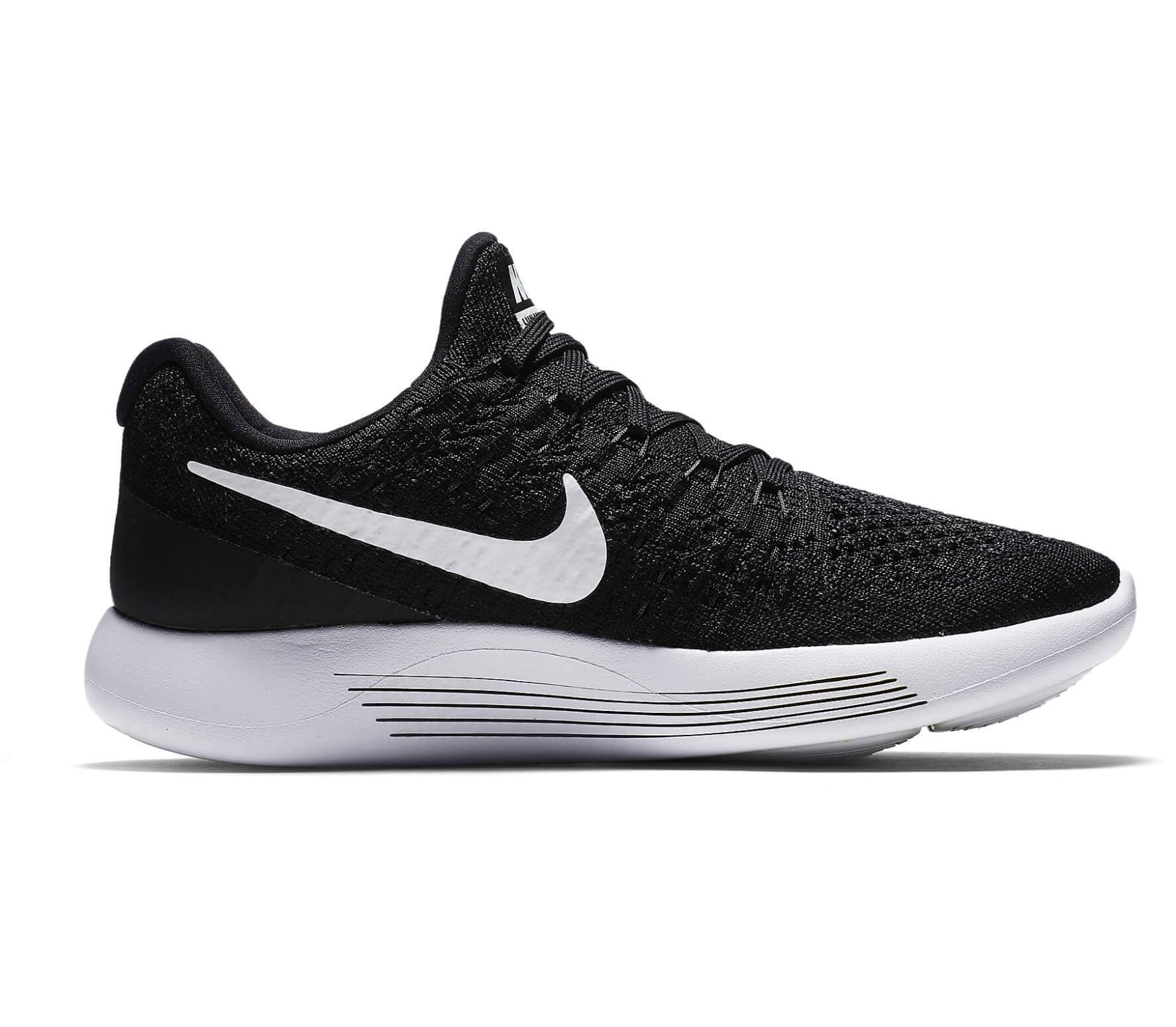 competitive price 5af02 99ac5 Nike - Lunar Epic Low Flyknit 2 chaussures de running pour femmes (noir  blanc