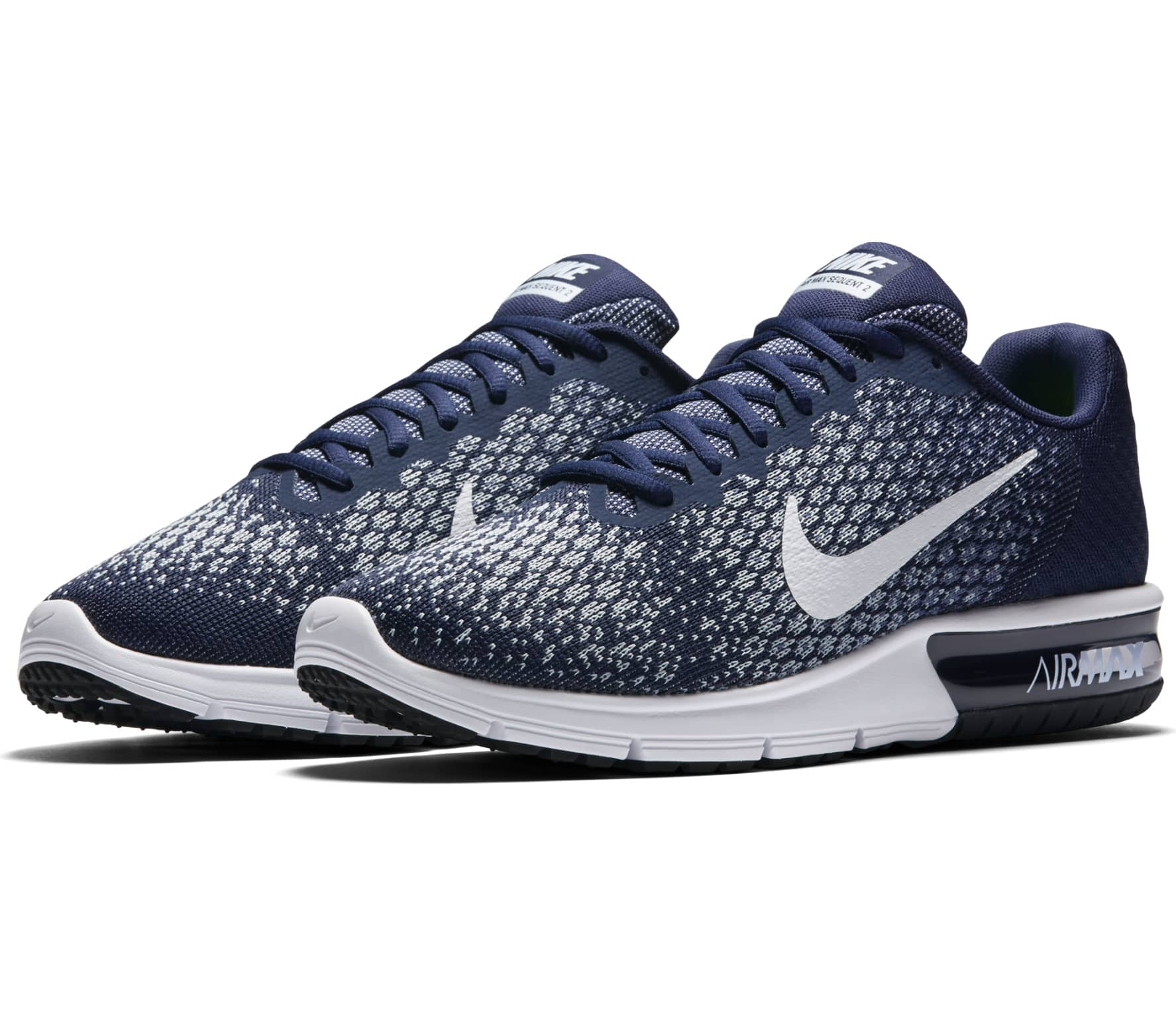separation shoes b7e45 59a6a Nike - Air Max Sequent 2 mens running shoes (blue)