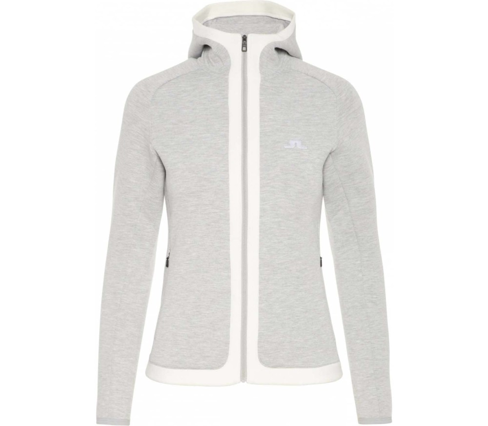 J.Lindeberg - Moffit Hoody Tech Sweat women's fleece jacket (grey)