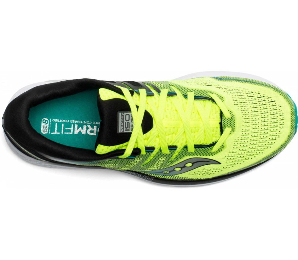 Saucony Guide Iso 2 Men Running Shoes  yellow
