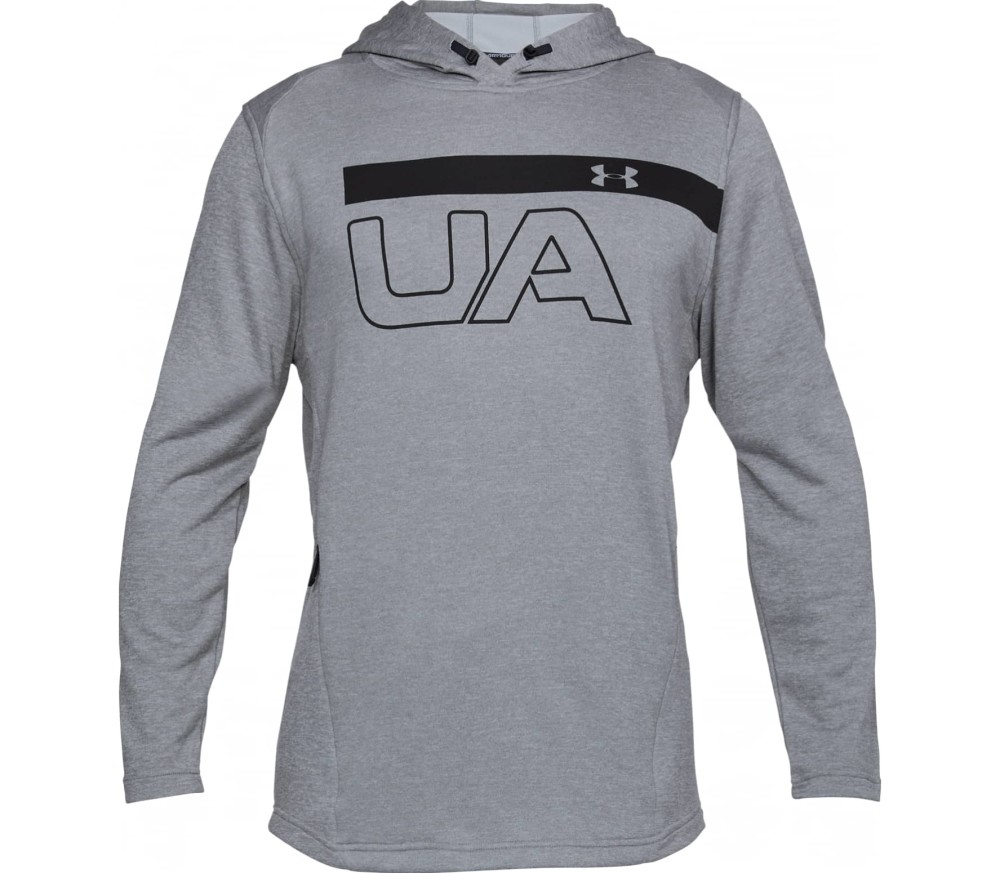 46aa804e59a7 Under Armour - Tech Terry PO Graphic men s training hoodie (grey ...