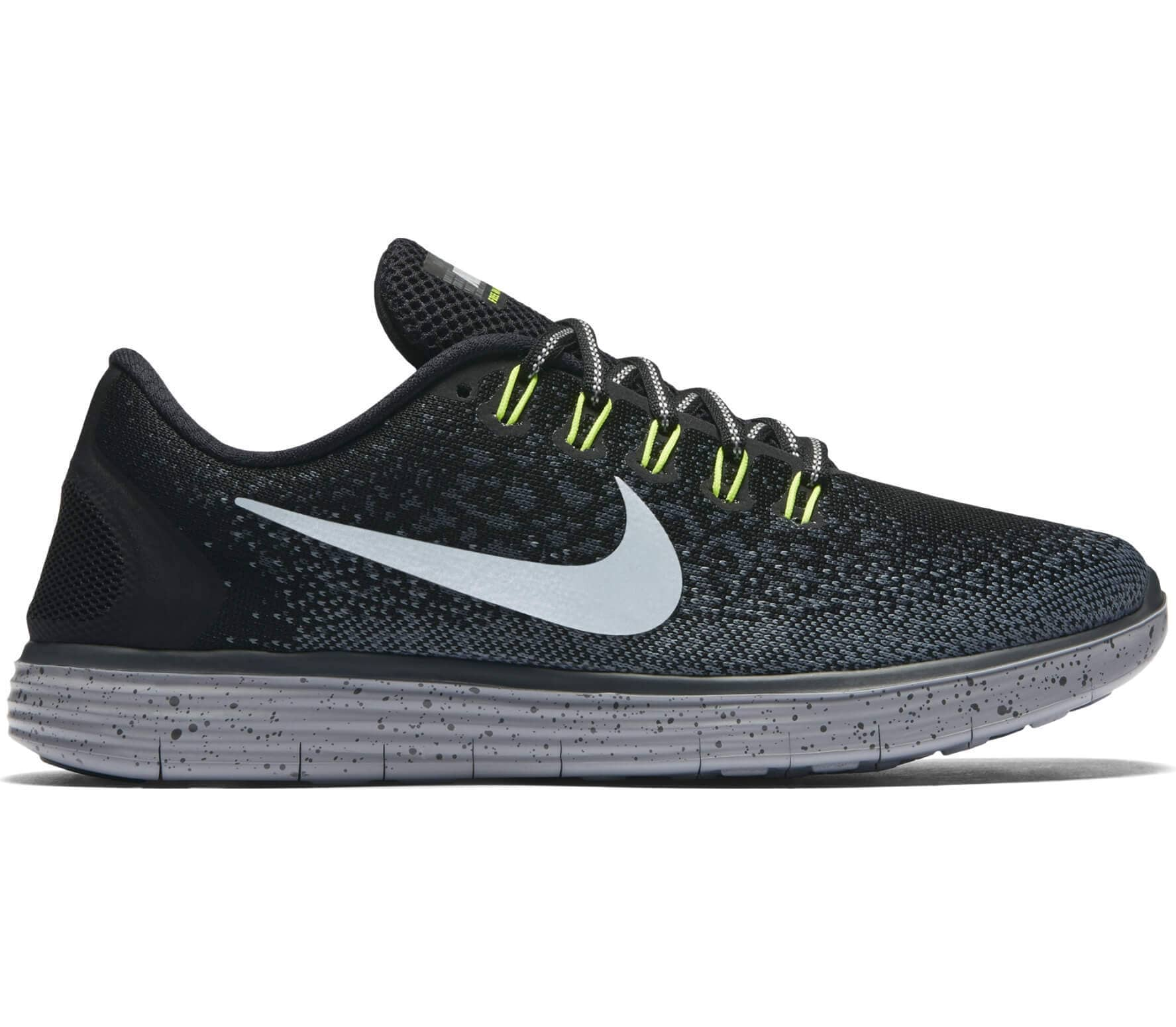 4795ec59709db Nike - Free RN Distance Shield women s running shoes (black silver ...