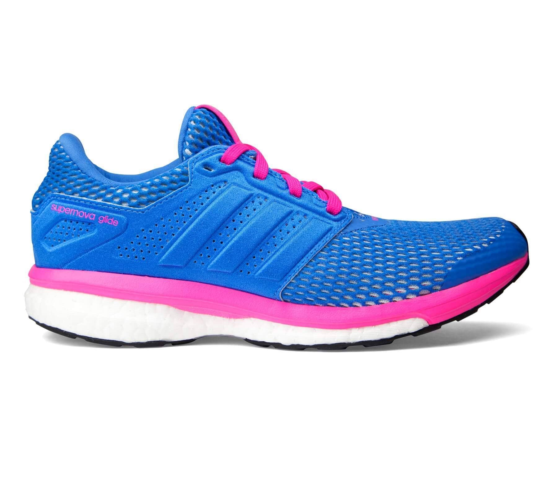 c827968aa Adidas - Supernova Glide Boost 8 Chill women s running shoes (blue pink)