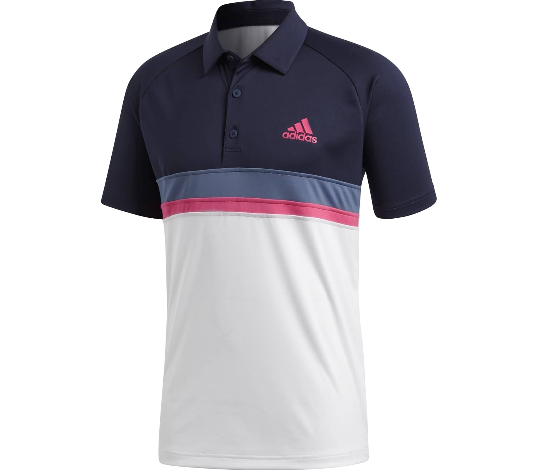 8a792bccd8db adidas performance - Club Color Block Hommes Tennis Polo (noir ...