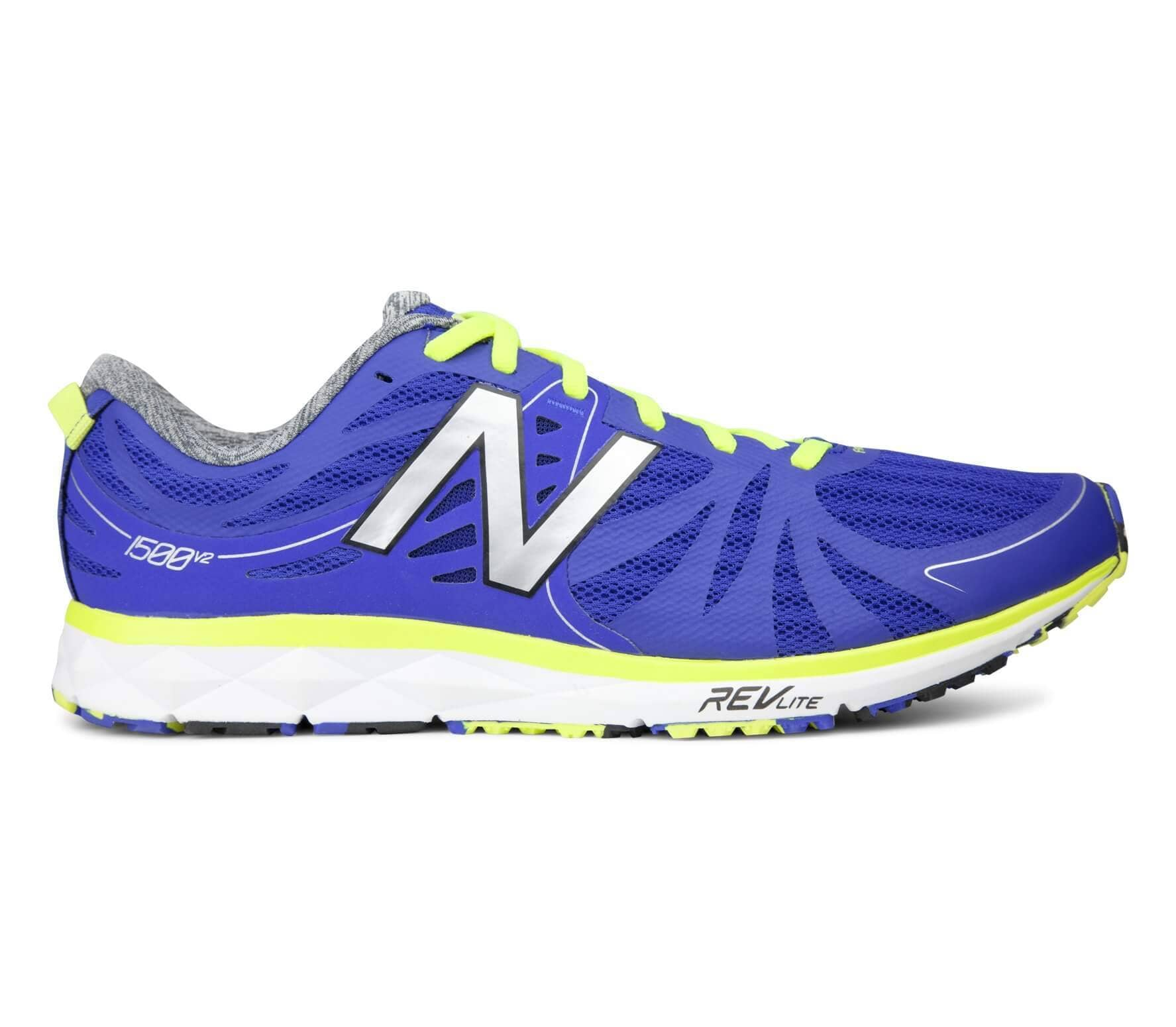new balance nbx 1500 v2 men 39 s running shoes blue yellow buy it at the keller sports online. Black Bedroom Furniture Sets. Home Design Ideas