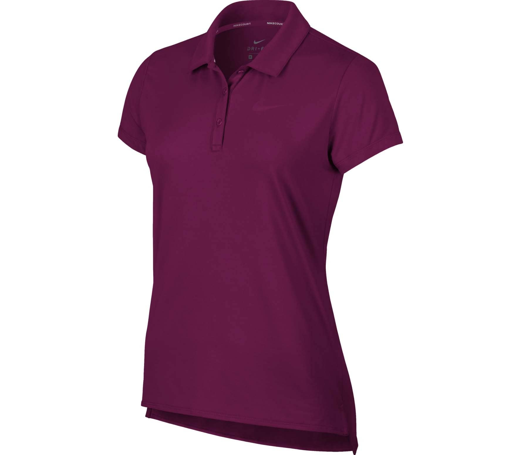 Nike - Court Pure Donna Tennis Polo (rosso)