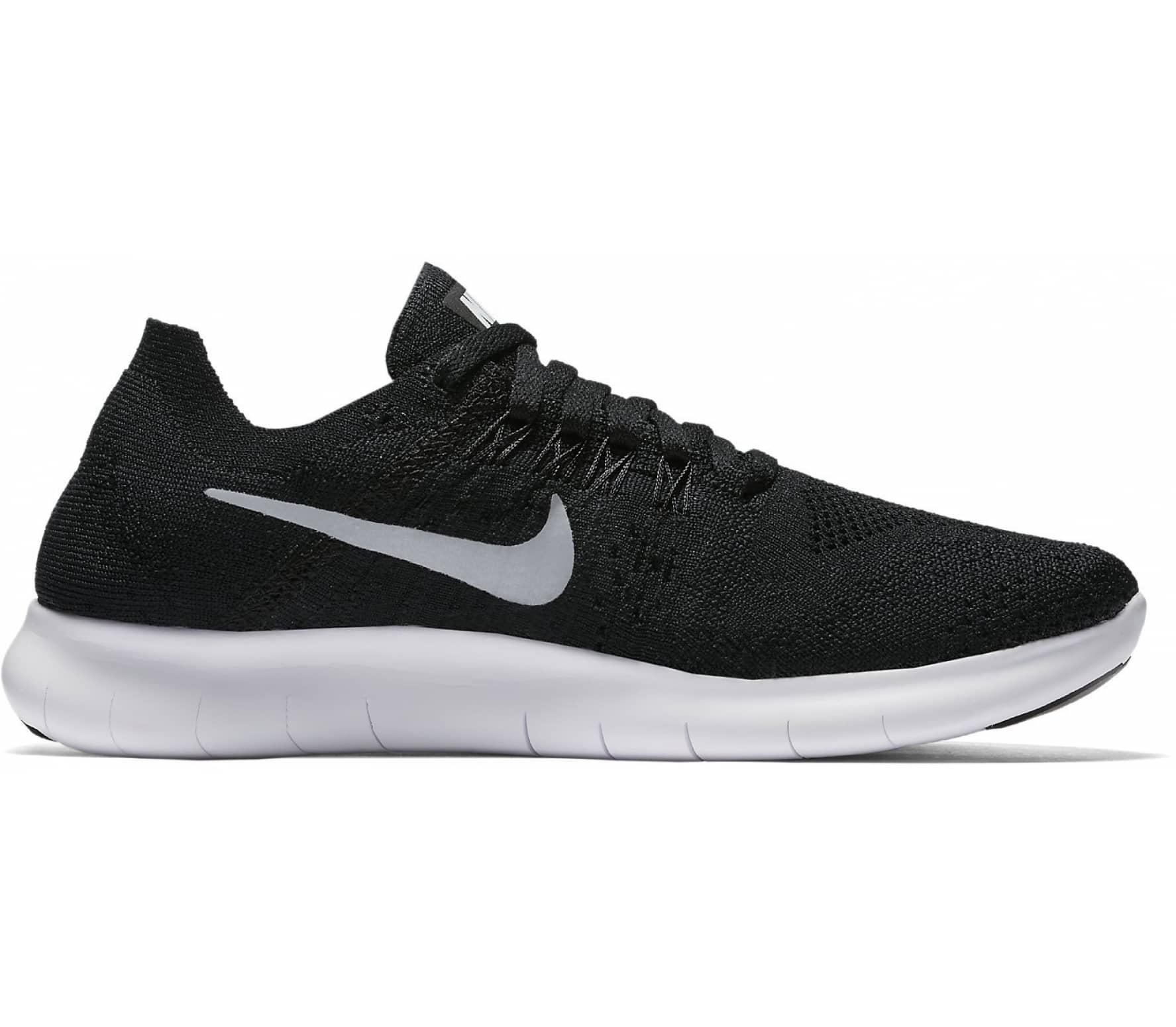Nike - Free RN Flyknit 2 (GS) Junior Laufschuh (schwarz/grau)