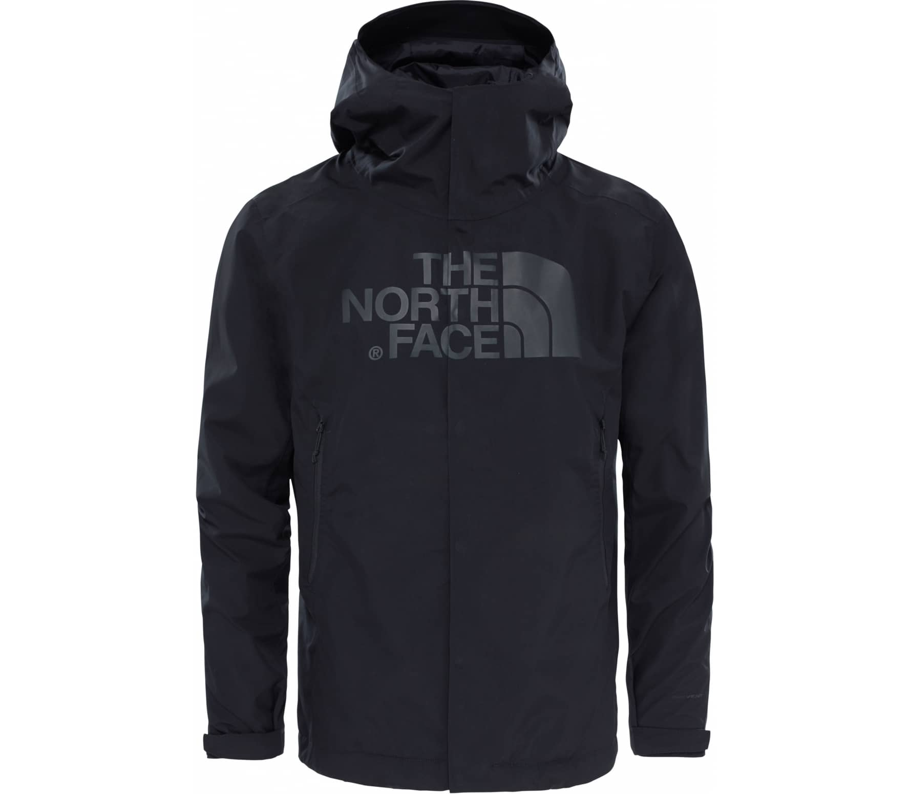 the north face drew peak herren regenjacke schwarz im online shop von keller sports kaufen. Black Bedroom Furniture Sets. Home Design Ideas