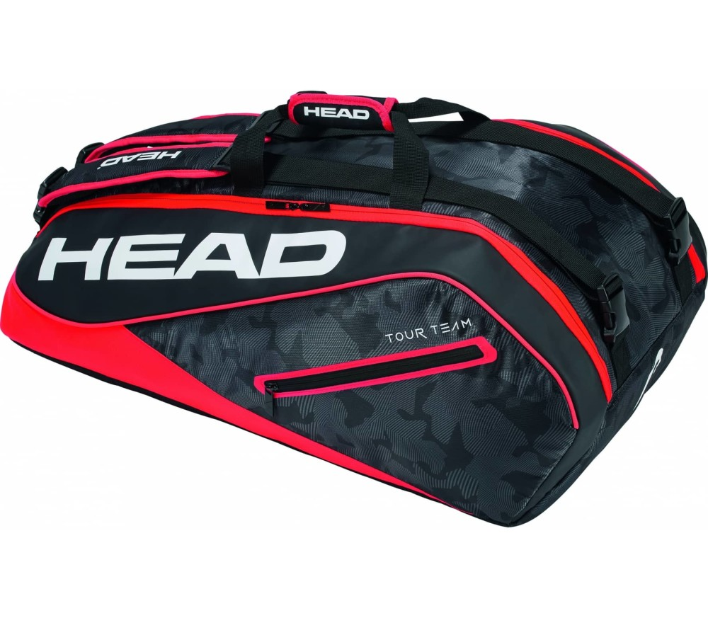 Head - Tour Team 9R Supercombi Tennistasche (schwarz/rot)