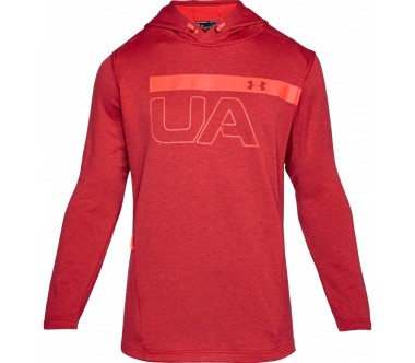 Under Armour - Tech Terry PO Graphic men's training hoodie (red)