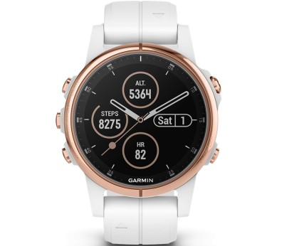 Garmin Fenix 5S Plus Outdooruhr Unisex weiß