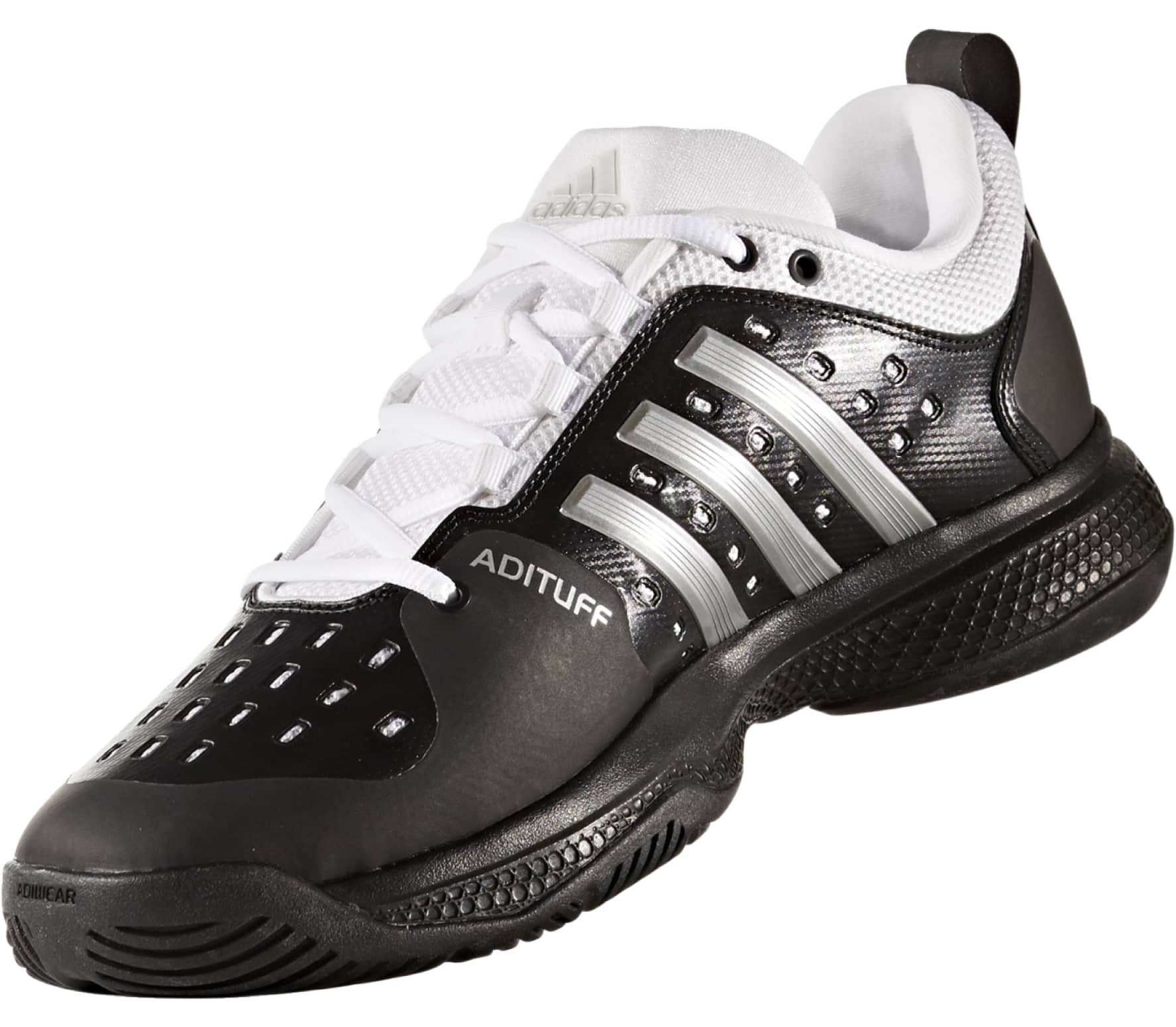 dc49d67b53f9 Adidas - Barricade Classic Bounce men s tennis shoes (black white ...