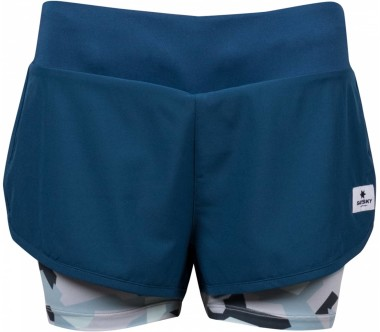 Saysky - 2 in 1 Shorts Femmes course courte (camo)