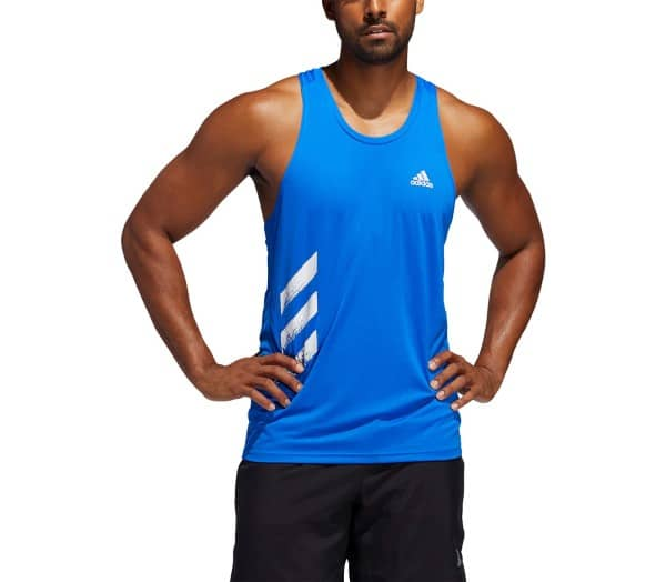 ADIDAS Own The Run Singlet PB 3-Streifen Herren Funktionstanktop - 1