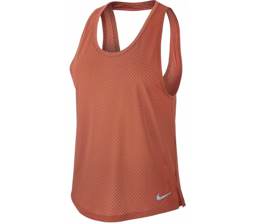 Nike Breathe Miler Women Training Tank Top red