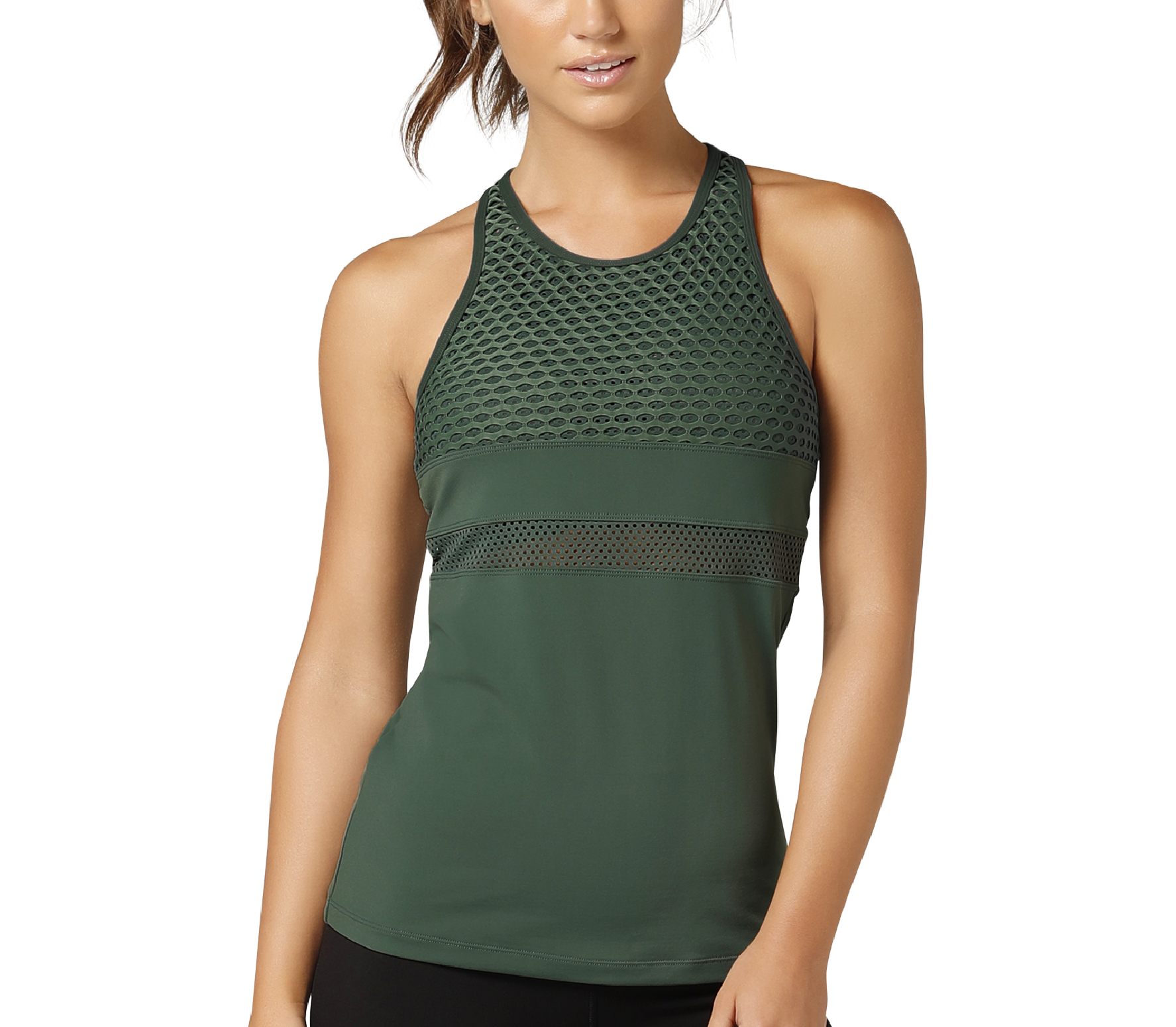 Lorna Jane - Ignition Excel women's training tank top top (green)