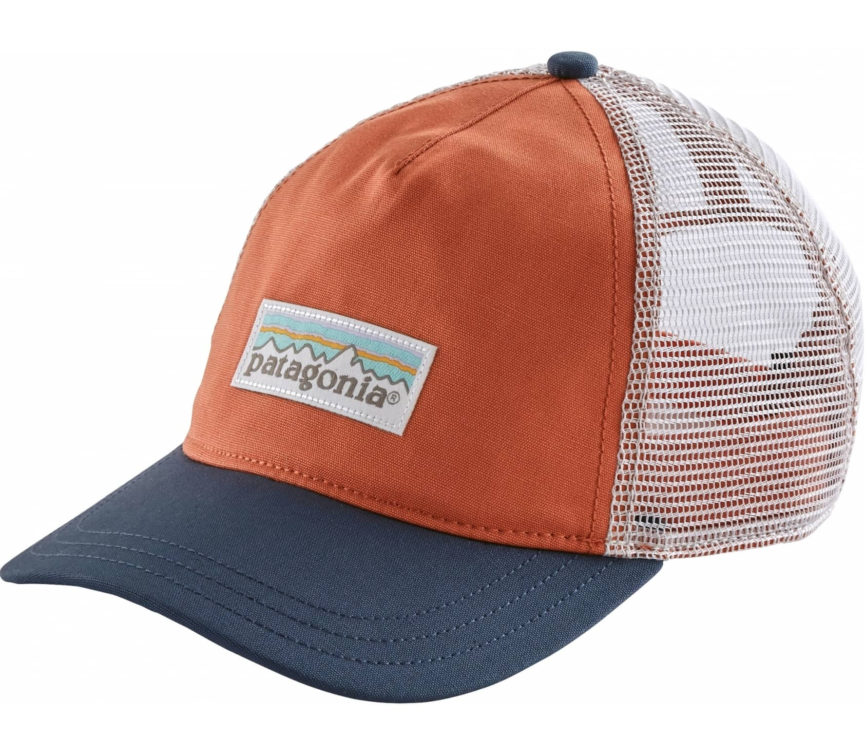 Patagonia - Pastel P-6 Label Layback Trucker Mujer Gorra (azul coral ... 19e9c98f17f