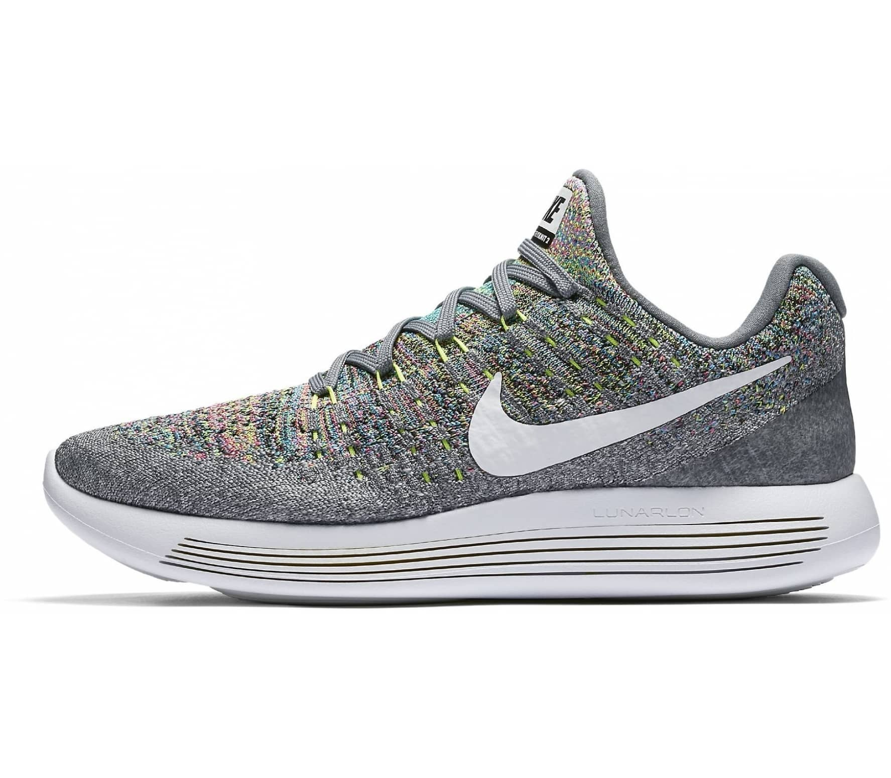 new product 14837 60cc8 ... clearance nike lunarepic low flyknit 2 mujer zapatos para correr gris  amarillo 5cd7e 52b27