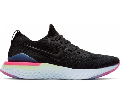 Nike - Epic React Flyknit 2 women's running shoes (black/blue)
