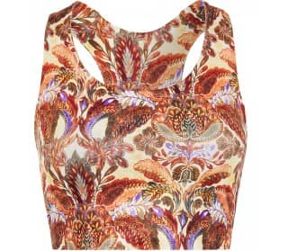 Printed Organdy Women Yoga Top