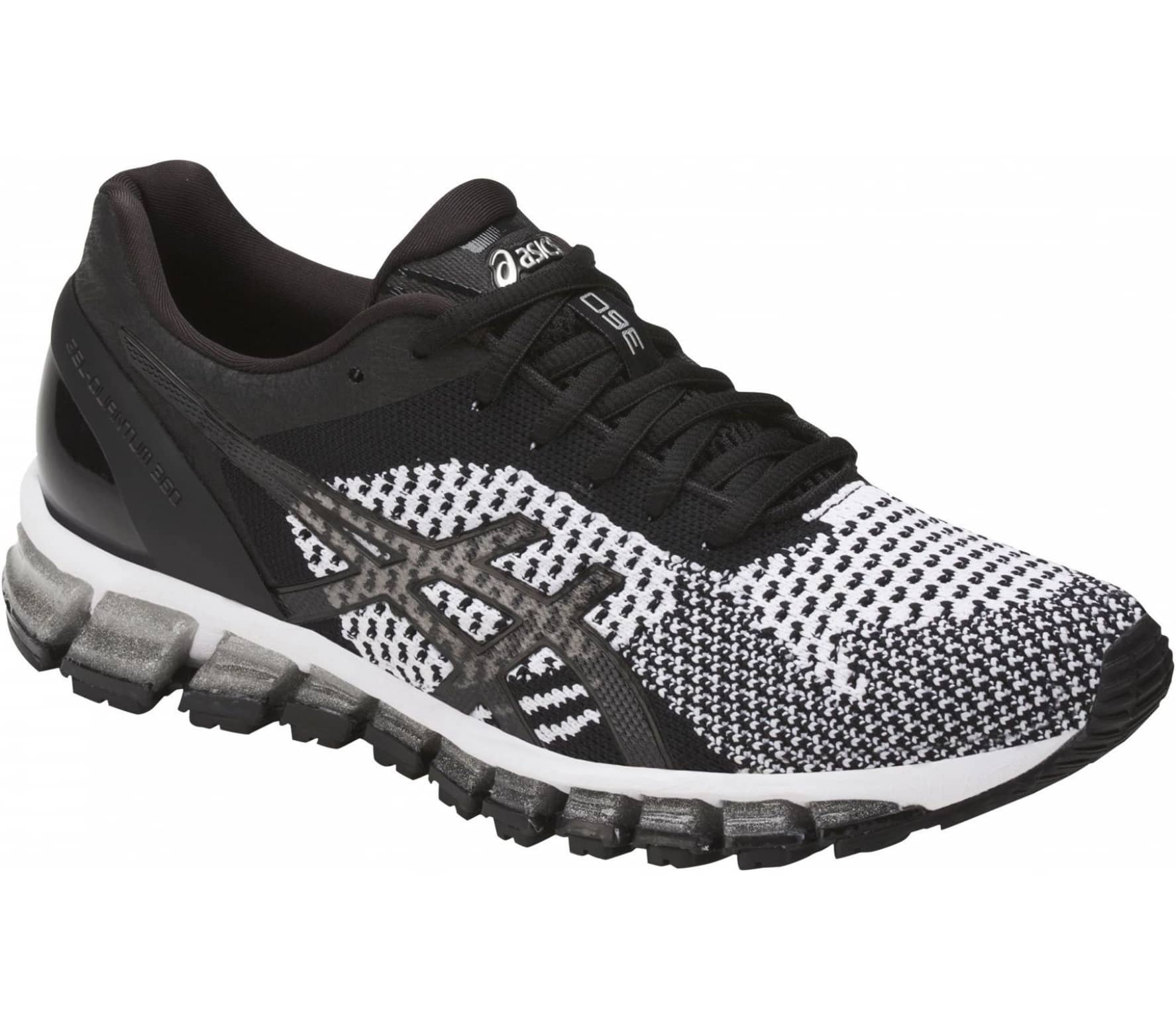 Asics - Gel-Quantum 360 Knit women s running shoes (black white ... d6df1b3b4d