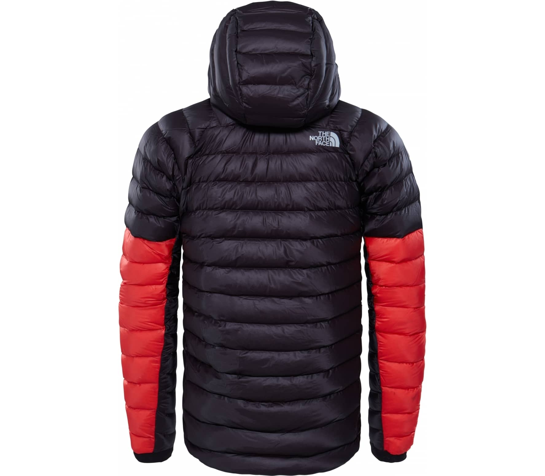 a3c7148eede1 The North Face - Summit L3 Down Hoodie Herren Daunenjacke (schwarz rot)