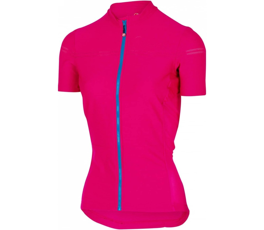 castelli promessa 2 jersey damen bike trikot rot blau. Black Bedroom Furniture Sets. Home Design Ideas