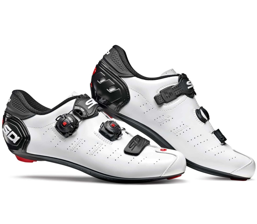 Sidi - Ergo 5 Carbon Heren Road Shoe (wit/zwart)