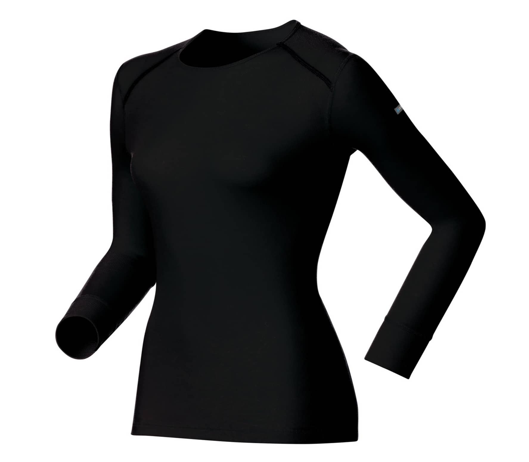 Longsleeve Crew Neck Warm Damen Funktionsshirt (schwarz) - XL