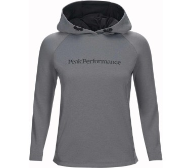 Peak Performance - Pulse Damen Funktionshoodie (grau)