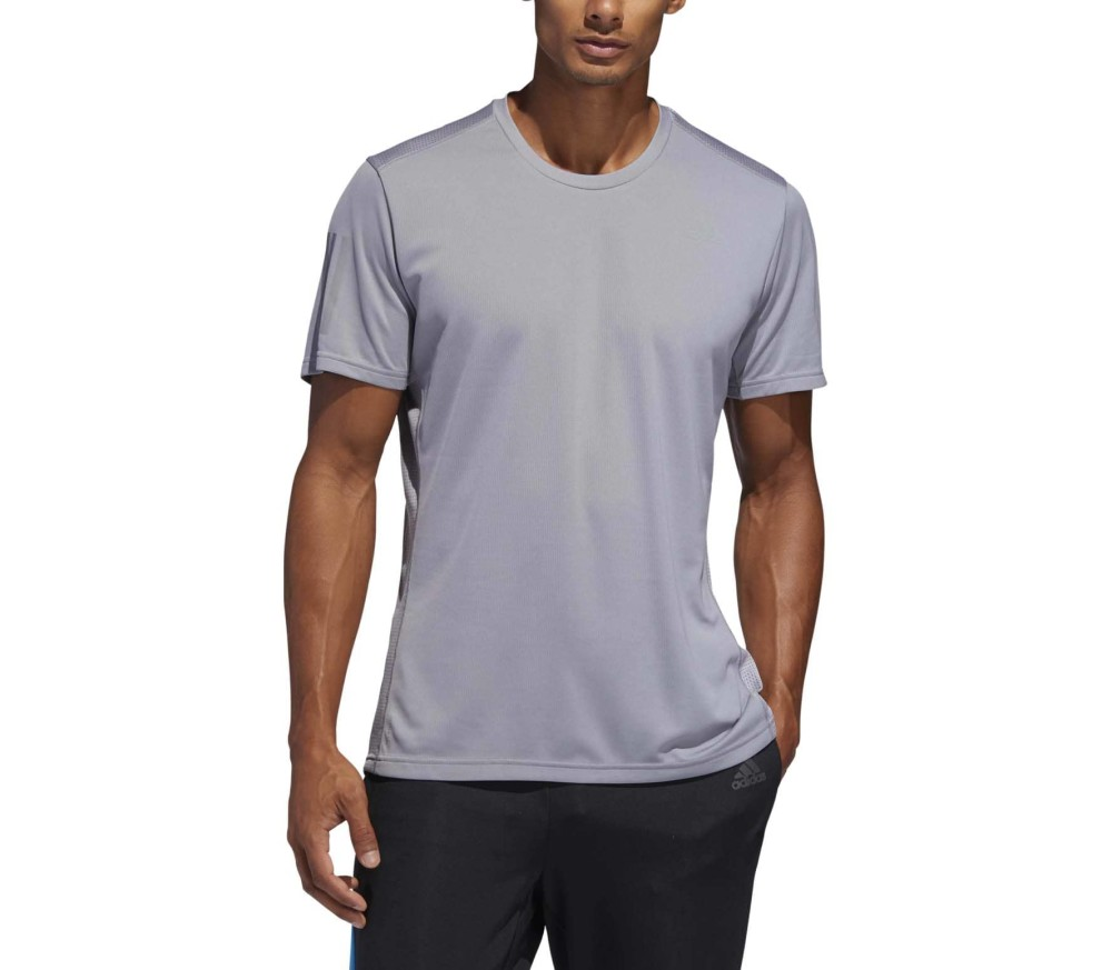 adidas Performance - Own The Run Hommes chemise de course (gris)