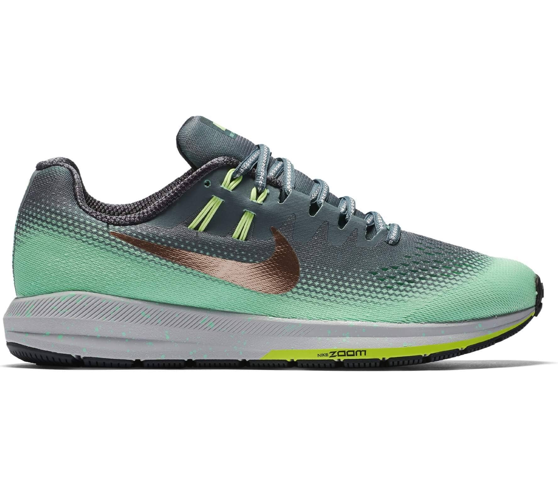 8d01f73f0 Nike - Air Zoom Structure 20 Shield zapatillas de running para mujer (verde  oscuro