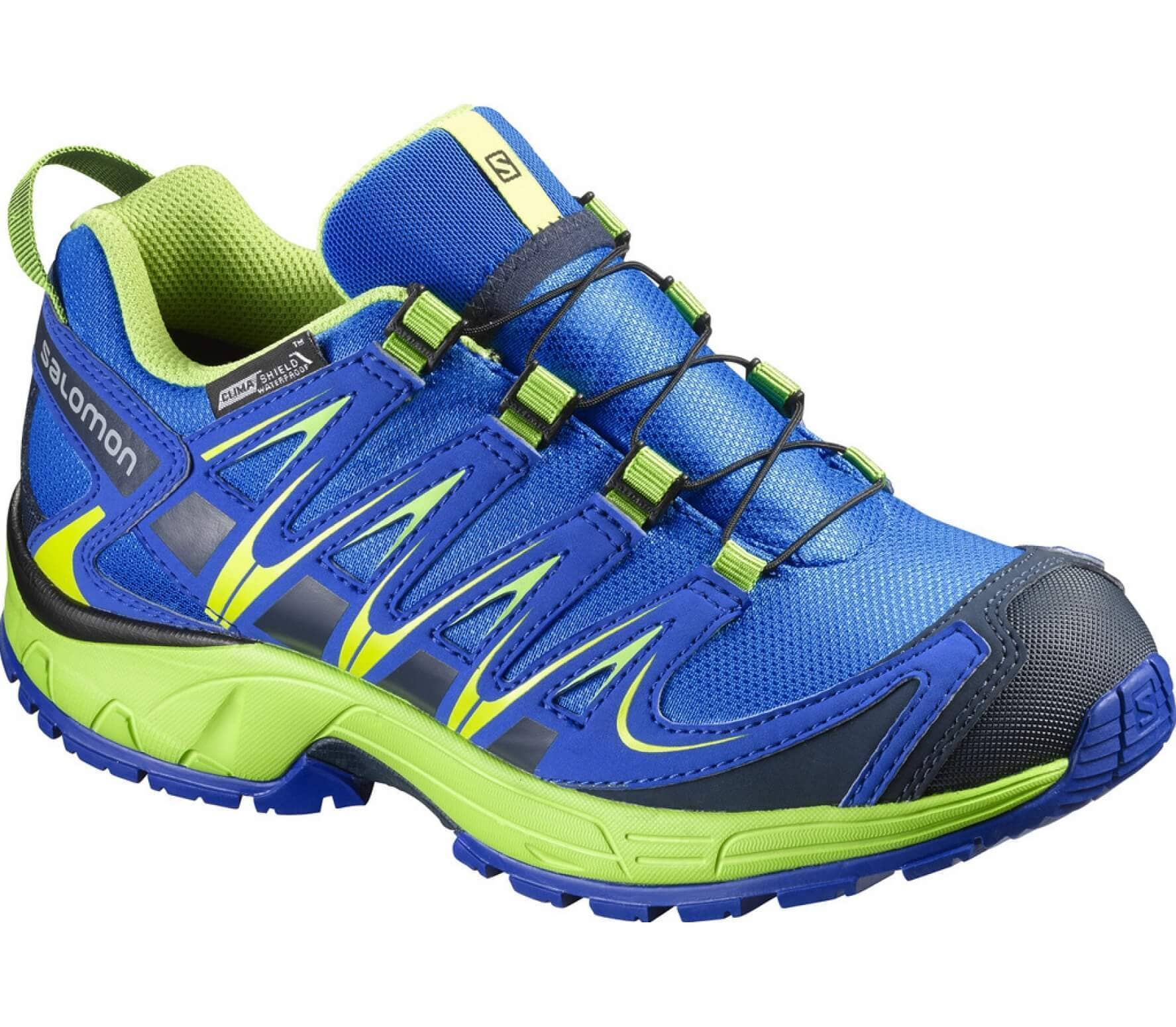 sports shoes cfd43 29a1a XA Pro 3D CSWP Children running shoes (blue light yellow)