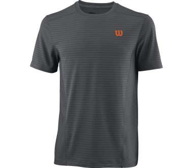 Wilson - UWII Linear Crew Burn Herren Tennisshirt (grau/orange)