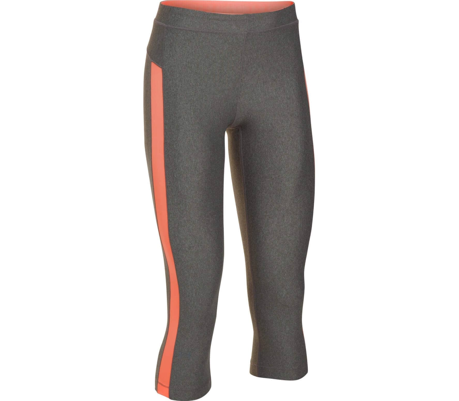 e7287548ced54 Under Armour - Heatgear Armour Coolswitch women's training pants  (grey/orange)