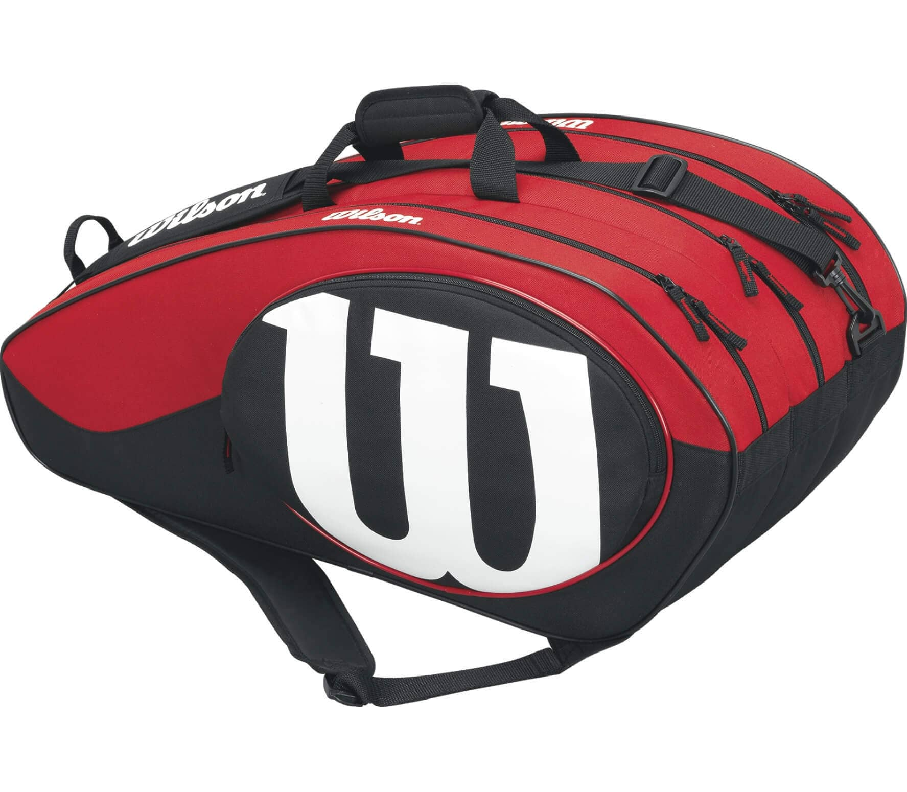 658e309e20 Wilson - Match II 12 Pack tennis bag (black red) - buy it at the ...