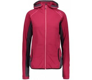 Magenta Women Fleece Jacket