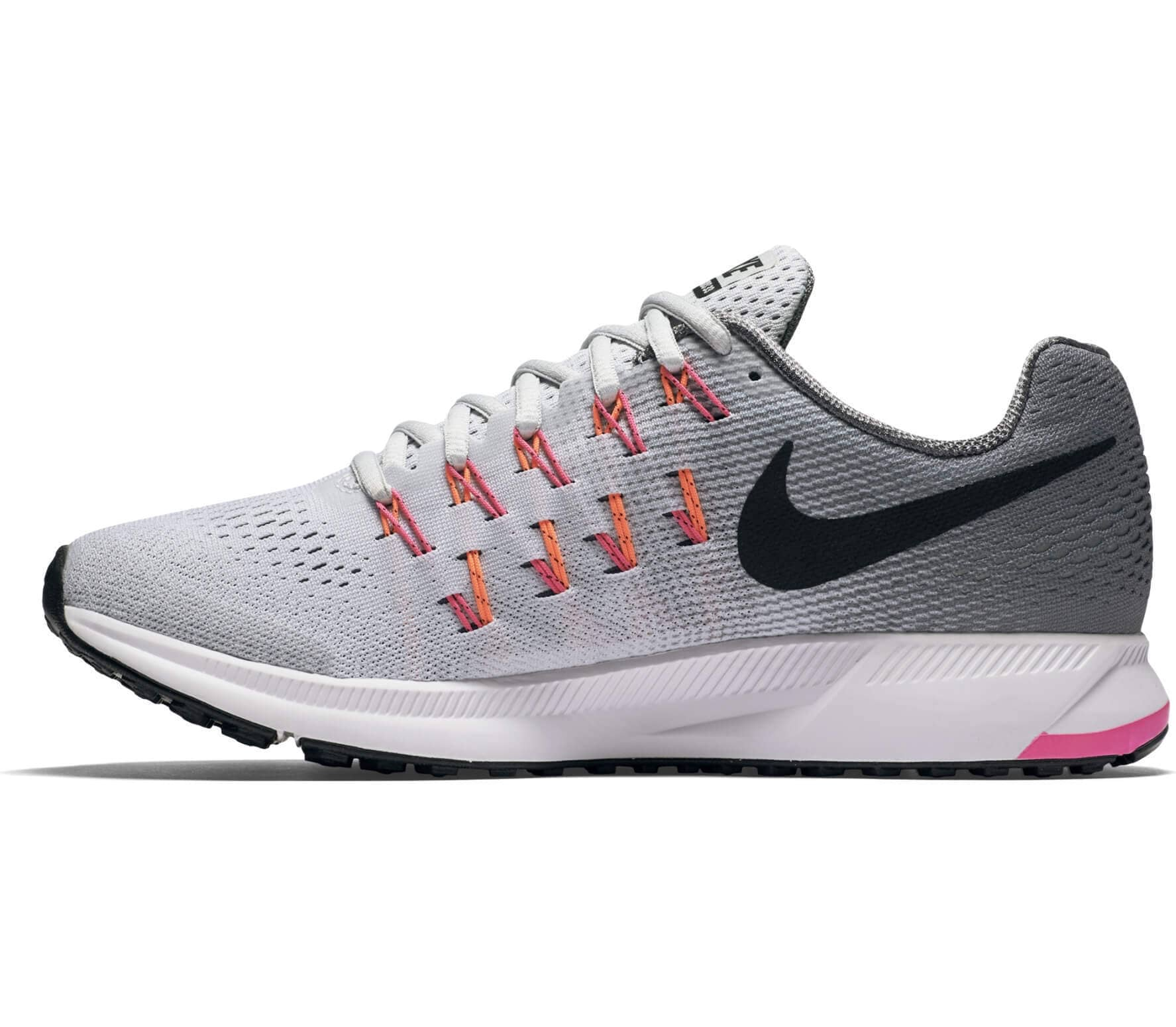 the latest 84668 4f22e ... low price nike air zoom pegasus 33 dam löparskor grå rosa 59d45 6c1af