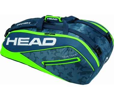 Head - Tour Team 9R Supercombi tennis bag (green/blue)