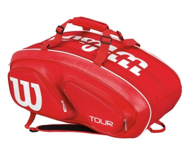 Wilson - Tour V 15Pk Bag Tennistasche (rot)