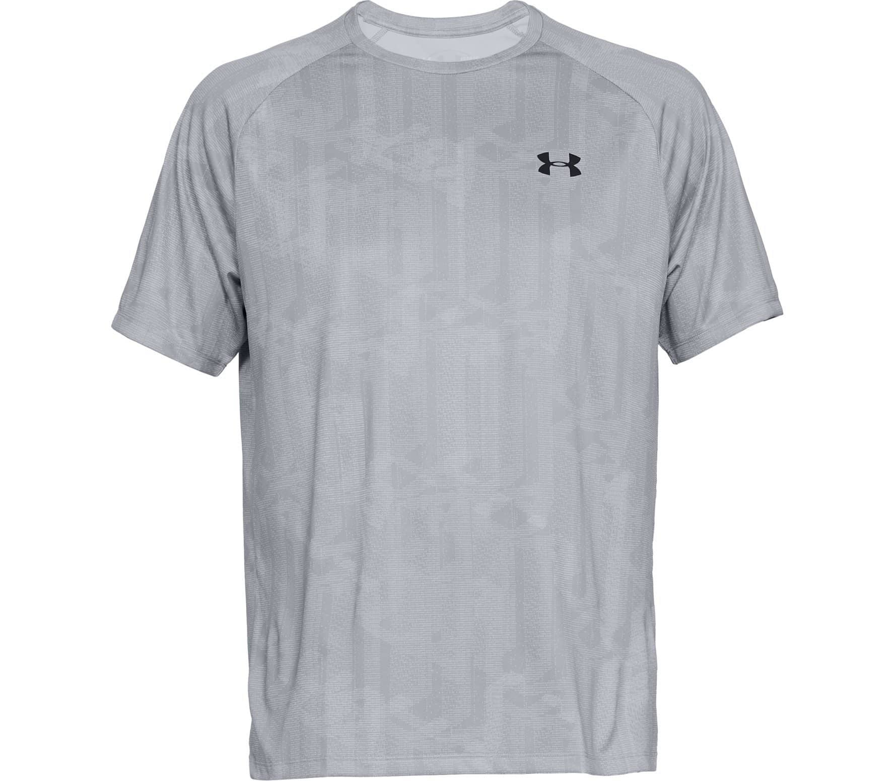bd3f9a7982b Under Armour - Tech Printed Hombre camiseta de entrenamiento (gris ...