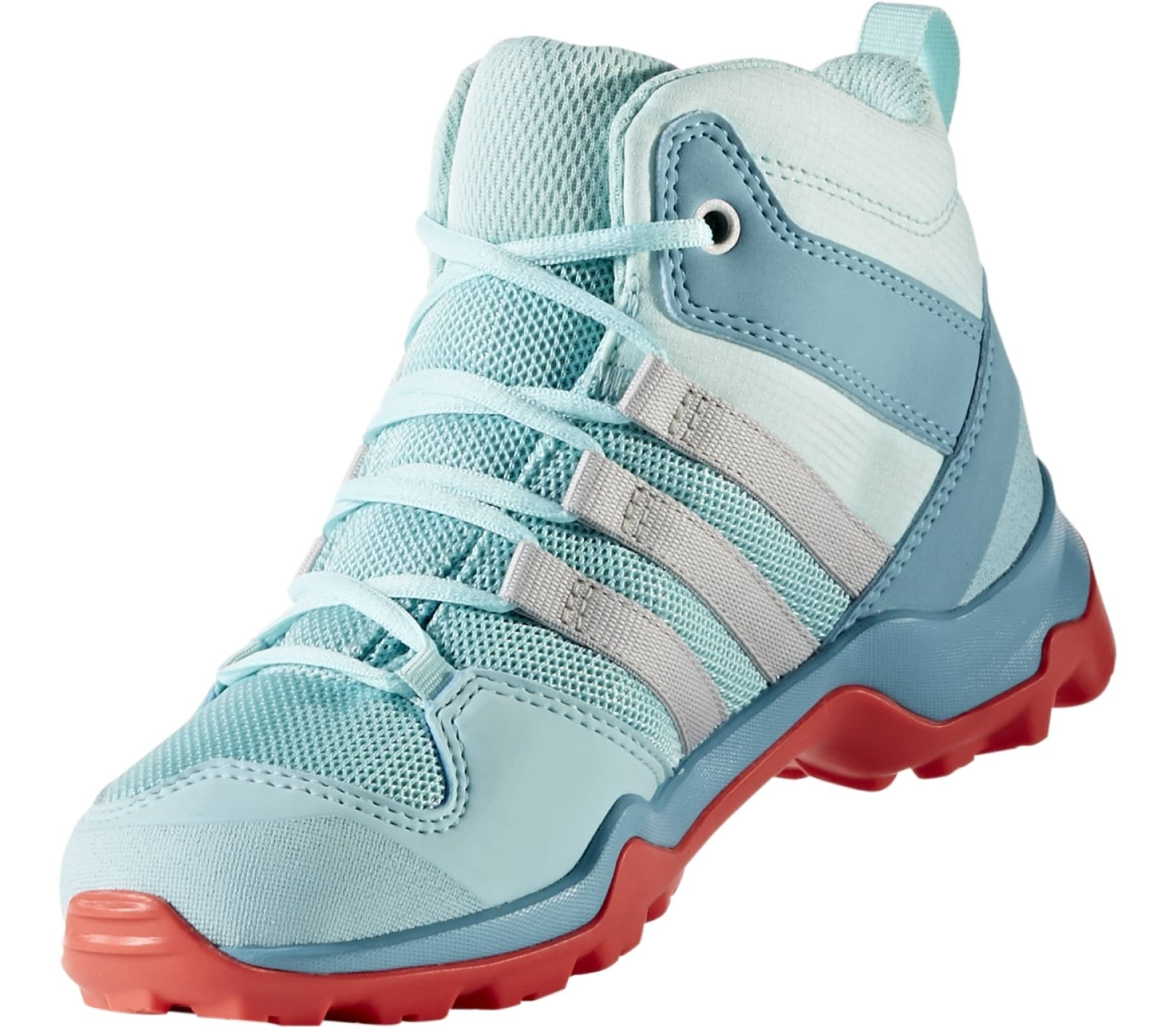 0ef73202e64d0 Adidas - Terrex AX2R MID CP Children hiking shoes (light blue red ...